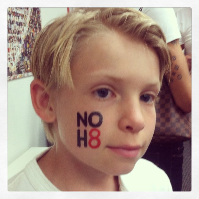 NOH8, kids, children, photo, tattoo,
