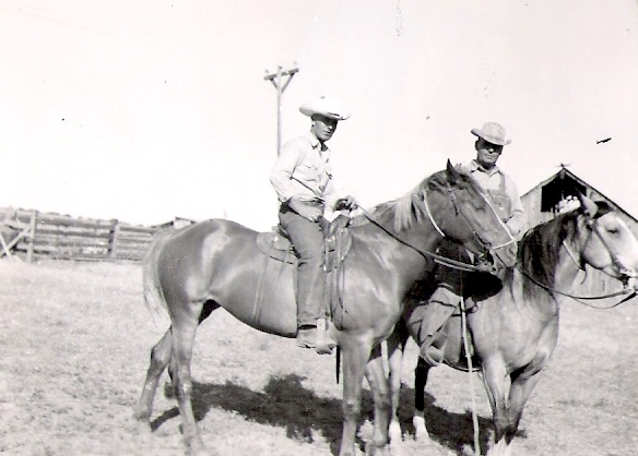 Les and Bob on horses
