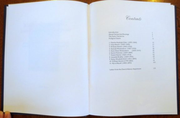 Table of Contents with white space on left page of spread
