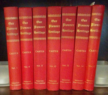 Our Pioneer Heritage books by Kate Carter, Daughters of the Utah Pioneers