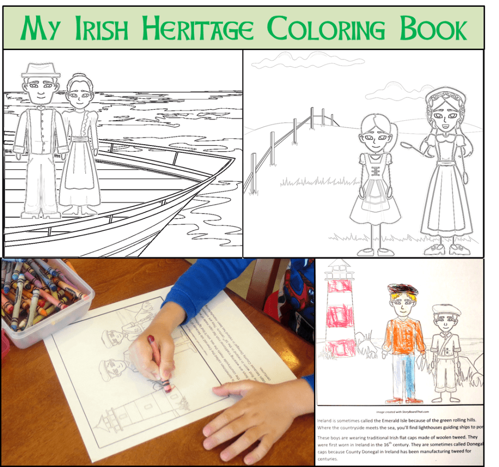 coloring book collage