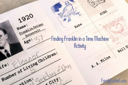 finding franklin time machine activity title