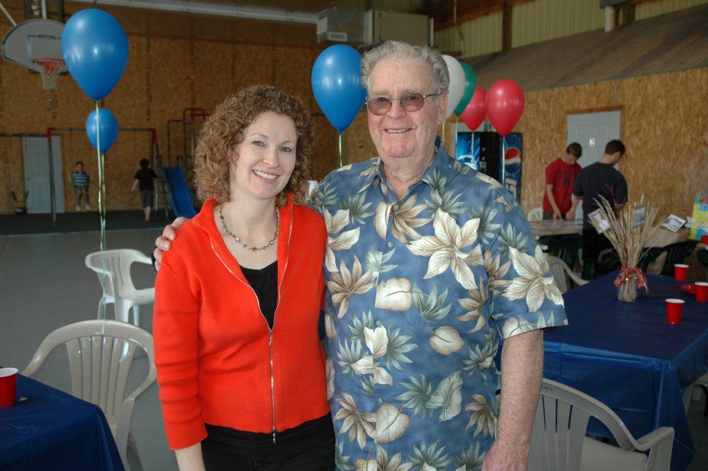 Diana and Bob, his 80th birthday