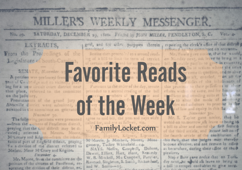 Favorite Reads of the Week: 21 May 2016 – Why Biden and a judge are interested in family history, family relative race road trip, Memorial Day