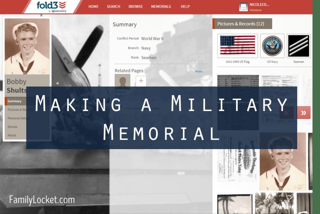 making a military memorial