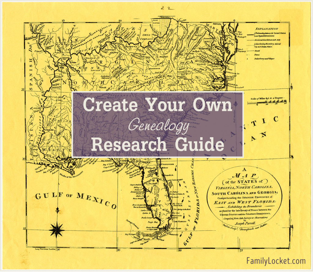 Create your own genealogy research guide