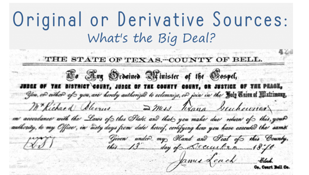 Original or derivative sources_whats the big deal