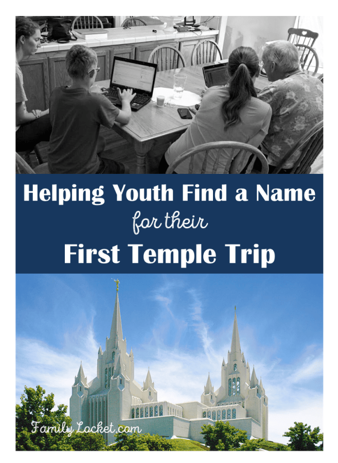 Helping Youth find a name for their first temple trip