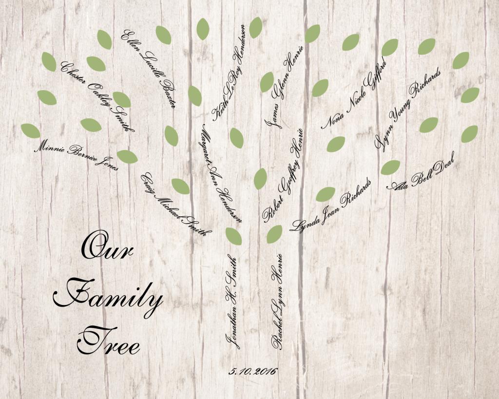 wedding-family-tree-light-green-leaves