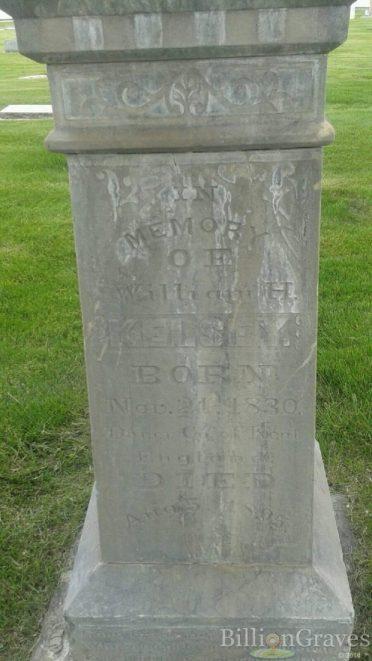 william-henry-kelsey-headstone