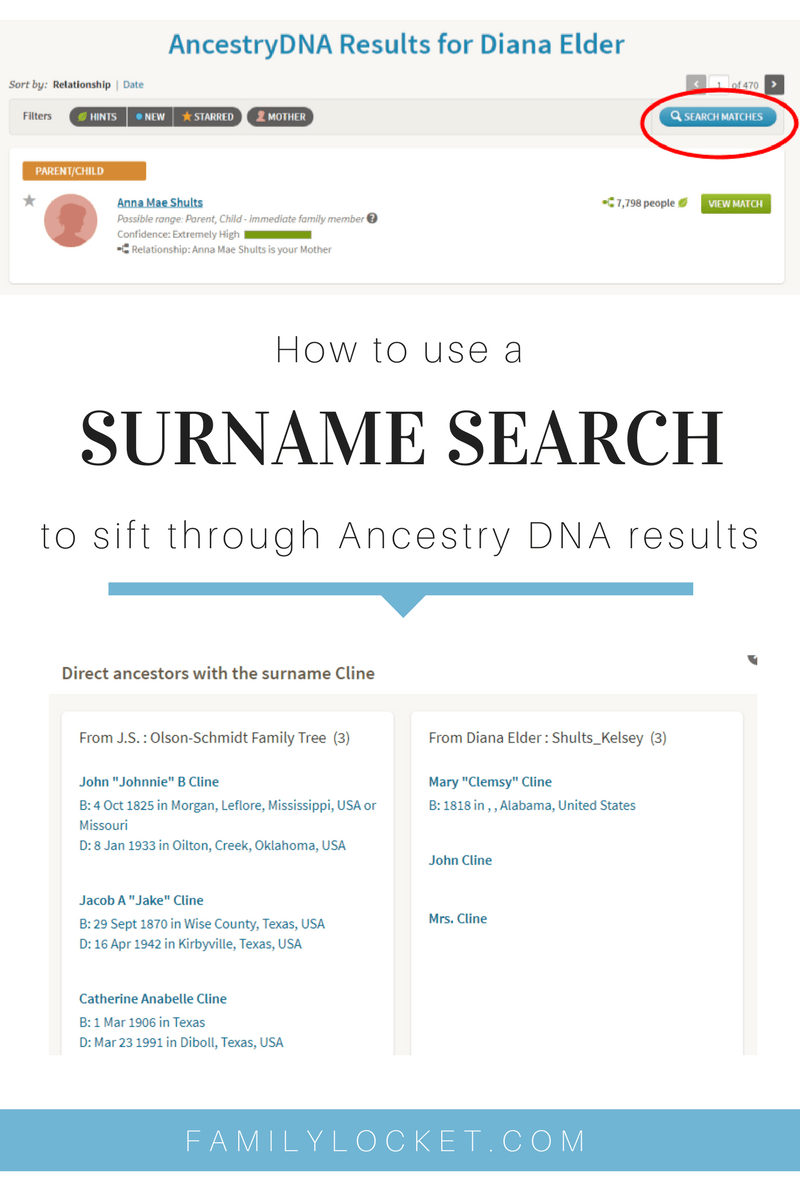How to Use a Surname Search to Sift Through DNA Results
