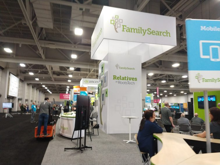 The FamilySearch booth