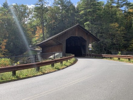 Covered bridge on the location where Eunice was killed in Greenfield, Massachusetts. If you do decide to visit, this is an active bridge. It is one lane and very narrow.