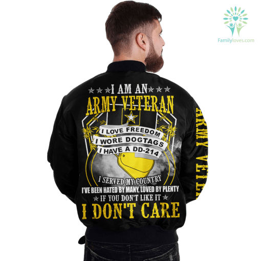 I Am An Army Veteran I Love Freedom I Wore Dogtags I Have A DD-214 JACKET payment shipping %tag familyloves.com