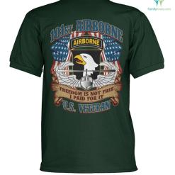 101st Airborne freedom is not free I paid for it? U.S veteran polo shirt %tag familyloves.com