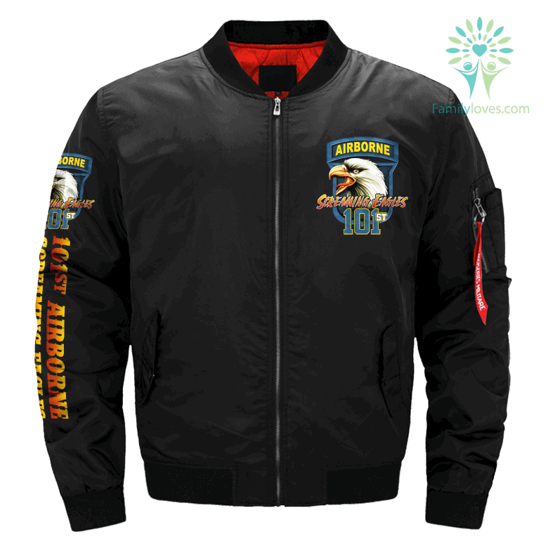 101ST AIRBORNE, SCREAMING EAGLES - OVER PRINT JACKET %tag familyloves.com