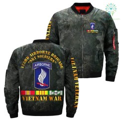 familyloves.com 173rd Airborne Brigade sky soldiers Vietnam war over print jacket %tag