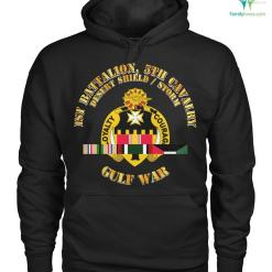 familyloves.com 1st Battalion, 5th cavalry desert shield storm Hoodie/Tshirt %tag