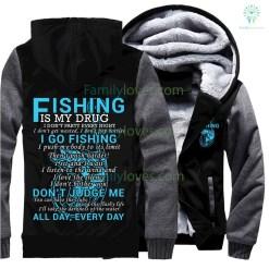 2017 fishing Sweatshirts new quotes fisher man zip hoodie %tag familyloves.com