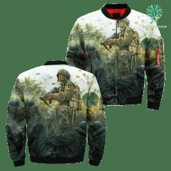 familyloves.com 101st Airborne Infantry Over Print Jacket %tag