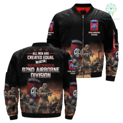 familyloves.com All men are created equal but only the finest served in 82nd airborne division Over Print Jacket %tag