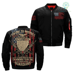 familyloves.com I Swore to protect and defend the constitution against all enemies foreign and domestic Over Print Jacket %tag