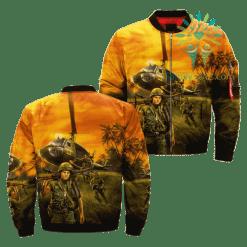 familyloves.com Vietnam Veterans Over Print Jacket %tag
