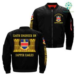 familyloves.com 326th engineer bn sapper eagles over print jacket %tag