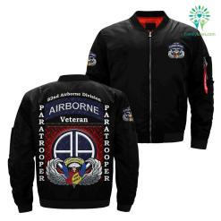 82nd airborne division paratrooper over Print jacket %tag familyloves.com
