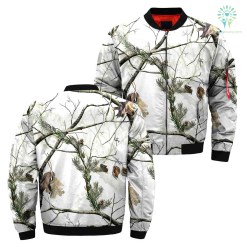 familyloves.com 3D All Over Printed white Camo Hunting Jacket %tag