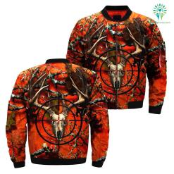 familyloves.com 3D All Over Printed Orange Deer Camo Hunting Jacket %tag