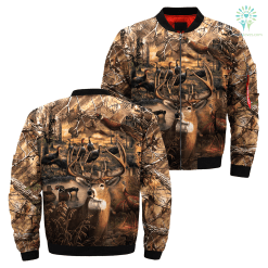 familyloves.com 3D ALL OVER PRINTED HUNTING CAMO JACKET %tag