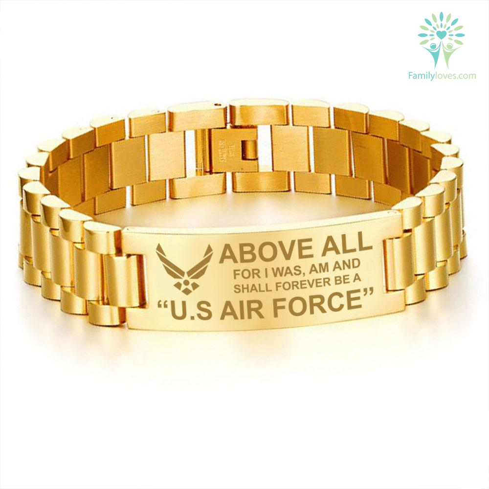 Above all, for I was am and shall forever be a United States Air Force men's bracelets Default Title %tag familyloves.com