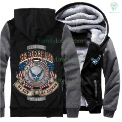 AIR FORCE DAD MY SON MY AIRMAN MY HERO HOODIE %tag familyloves.com