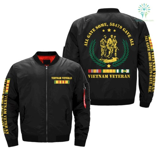 all gave some, 58479 gave all, Vietnam Veteran of America Over Print Jacket gave payment shipping vietnam %tag familyloves.com