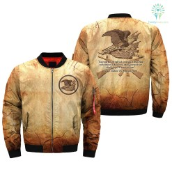 familyloves.com Americans have the right and advantages of being armed... over print Bomber jacket %tag