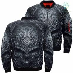 familyloves.com Darkness Skull Over Print Jacket %tag