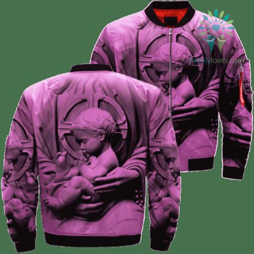 BABY JESUS 3D Over Print Jacket %tag familyloves.com