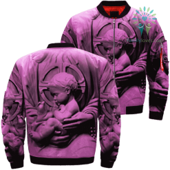 familyloves.com BABY JESUS 3D Over Print Jacket %tag