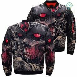Ark Skull Evil Soul Skull Art Art Skeleton Over Print Jacket %tag familyloves.com