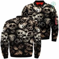 Funny Skeletons Skull Over Print Jacket %tag familyloves.com