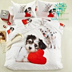 familyloves.com Bedding set shih tzu 100% Cotton %tag