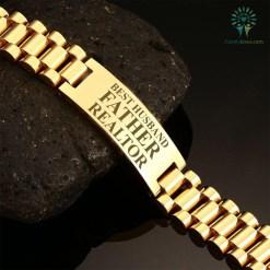 familyloves.com Best husband father realtor-men bracelets %tag
