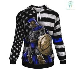 familyloves.com Blue Line Warrior ugly christmas hoodie %tag