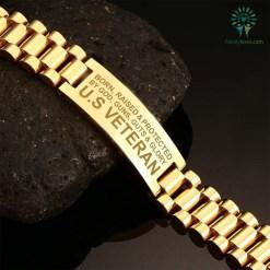 Born, Raised & Protected By God, Guns, Guts & Glory, U.S Veteran men's bracelets Default Title %tag familyloves.com