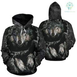 familyloves.com Breakthrough Wolf All Over Hoodie %tag