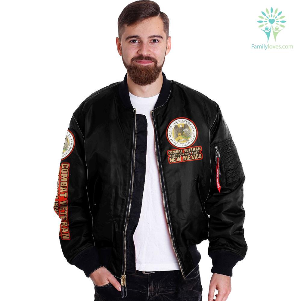 Combat veteran freedom isn't free New Mexico over Print jacket %tag familyloves.com