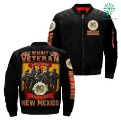 Combat veteran freedom isn't free New Mexico over Print jacket %tag familyloves.com