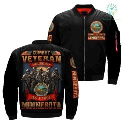 Combat veteran freedom isn't free Minnesota over print jacket %tag familyloves.com