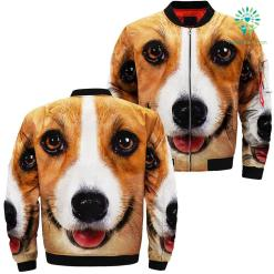 Corgi Dog over print jacket %tag familyloves.com